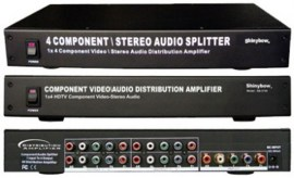 4 port component video and audio distribution amplifier