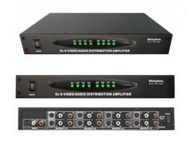 8 port s video and stereo audio distribution amplifier