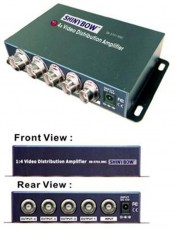 composite video distribution amplifier bnc 4 port