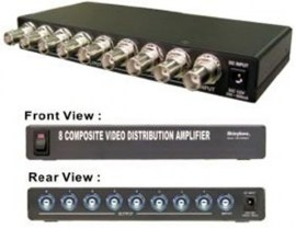 composite video distribution amplifier bnc 8 port