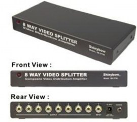 composite video distribution amplifier rca 8 port