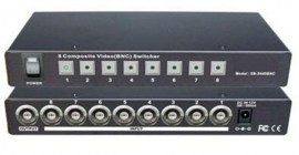 composite video switch bnc with infra red remote control 8 port