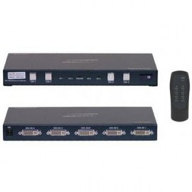 dvi video switch with infra red remote 4 port