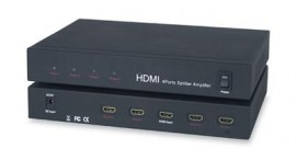 hdmi distribution amplifier 1x4 splitter full hd 1080p v1 3b