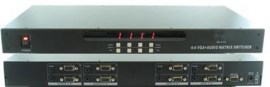 shinybow vga video matrix 4 in 4 out audio rackmount with rs232 and infra red remote sb 4144
