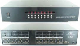 shinybow vga video matrix with audio 8 in 8 out rackmount with rs232 and infra red remote sb 8188