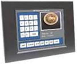 ultraview 12 1 panel mount led with nema4 ip 65 front protection resistive touch screen and serial controller
