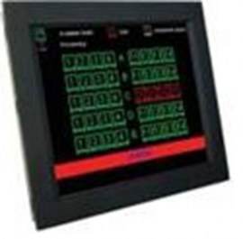 ultraview 17 panel mount lcd with nema4 ip 65 front protection resistive touch screen and serial controller