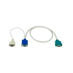 26-pin SCSI II to VGA + RS232 Cable, Male to Female, 10 feet